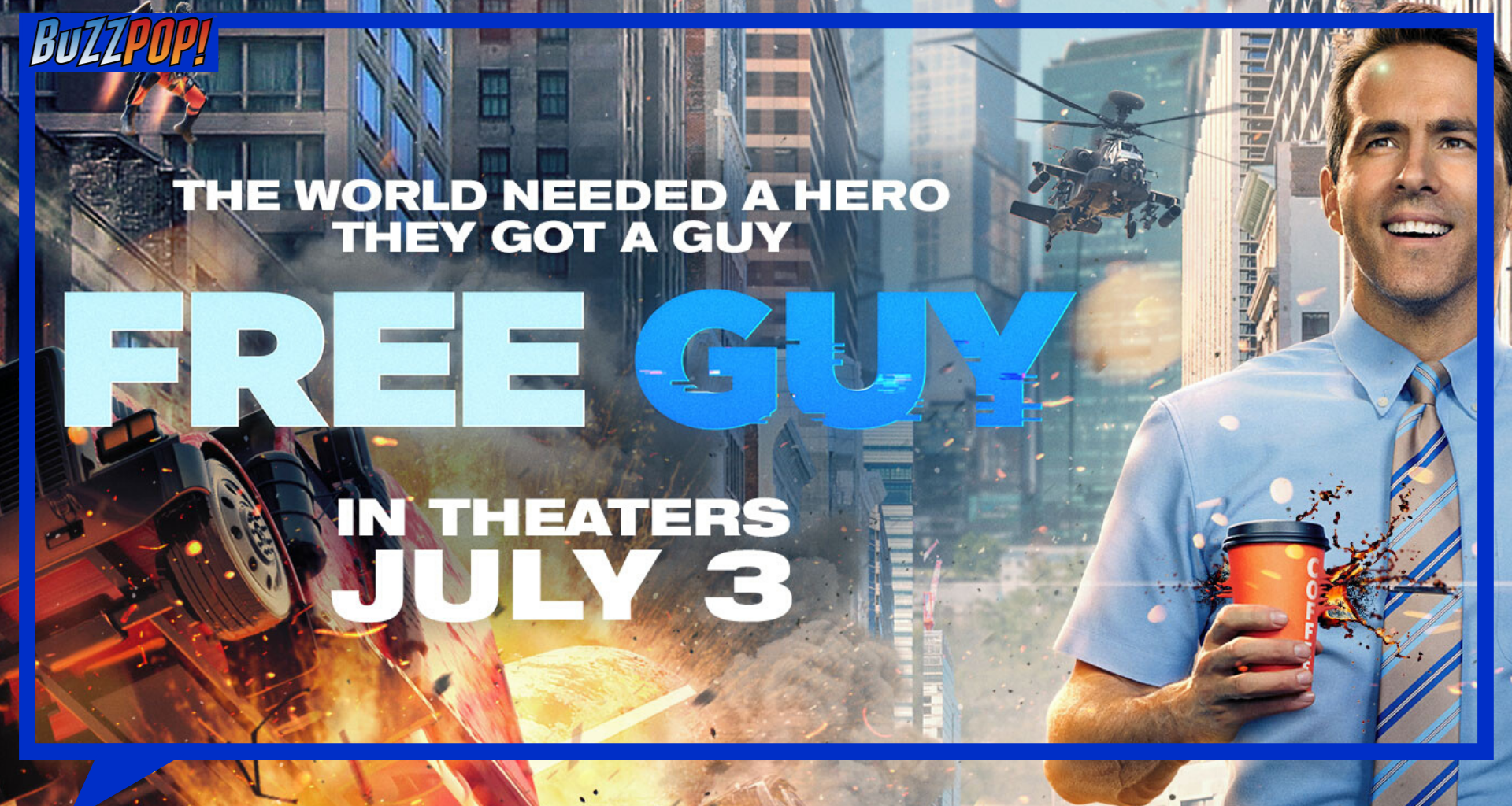 Banner Poster FREE GUY